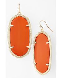 Kendra Scott - Gray Danielle - Large Oval Statement Earrings - Lyst