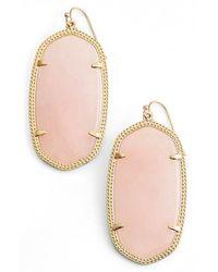 Kendra Scott - Metallic 'danielle - Large' Oval Statement Earrings - Lyst