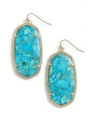Kendra Scott   Blue 'danielle - Large' Oval Statement Earrings   Lyst