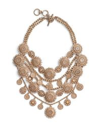 Marchesa | Metallic Multirow Collar Necklace | Lyst