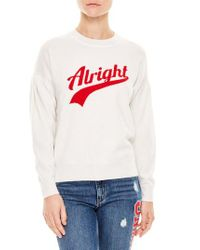 Sandro - White Alright Wool & Cashmere Sweater for Men - Lyst