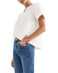 Madewell - White Popover Swing Top - Lyst