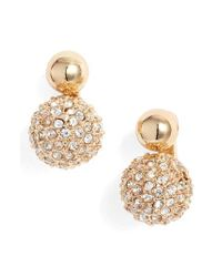 Rebecca Minkoff - Metallic Mini Double Sphere Stud Earrings - Lyst