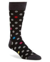 Bugatchi - Black Dot Socks for Men - Lyst