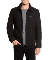 Vince Camuto - Black Wool Blend Shirt Jacket for Men - Lyst