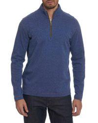 Robert Graham - Blue 'elia' Regular Fit Quarter Zip Pullover for Men - Lyst