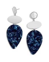 BaubleBar Blue Fareena Drop Earrings