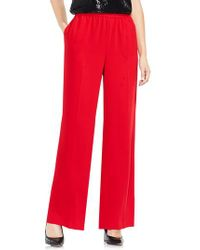 Vince Camuto - Red Wide Leg Crepe Pants - Lyst