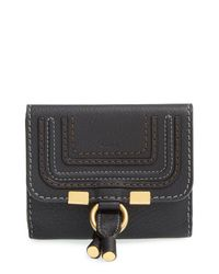 Chloé - Gray Chloé 'marcie' French Wallet - - Lyst