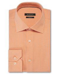 Bugatchi - Orange Trim Fit Houndstooth Dress Shirt for Men - Lyst