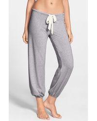 Eberjey   Gray Crop Knit Lounge Pants   Lyst