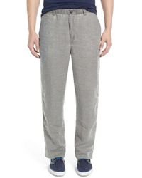 Tommy Bahama | Gray 'new Linen On The Beach' Easy Fit Pants for Men | Lyst