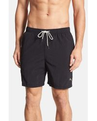 Tommy Bahama | Black 'The Naples Happy Go Cargo' Swim Trunks for Men | Lyst