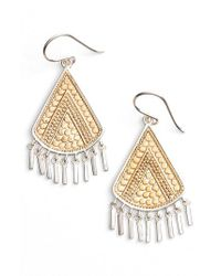 Anna Beck - Metallic Signature Beaded Fringe Drop Earrings - Lyst