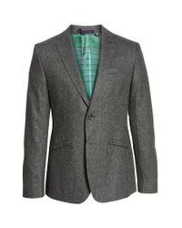 Ted Baker | Gray Modern Slim Fit Textured Blazer for Men | Lyst
