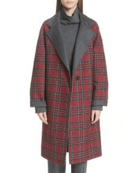 Lafayette 148 New York - Red Braylie Long Coat - Lyst