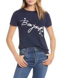 Nordstrom - Gray 1901 Short Sleeve Graphic Tee - Lyst