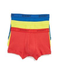 2xist - Black 3-pack No Show Trunks, Yellow for Men - Lyst