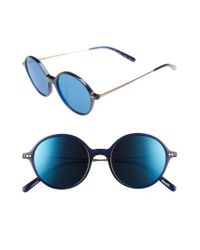 Oliver Peoples - Blue Corby 51mm Round Sunglasses - Lyst