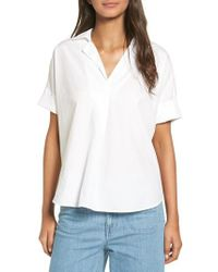 Madewell | White Courier Cotton Shirt | Lyst