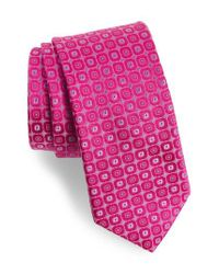 Ted Baker - Pink Medallion Silk Tie for Men - Lyst