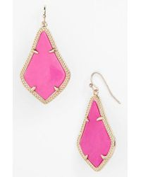 Kendra Scott - Purple Alex Drop Earrings - Lyst