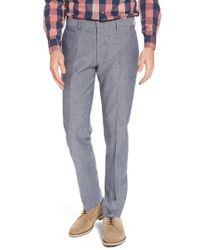 J.Crew - Gray Ludlow Trim Fit Cotton & Linen Suit Pants for Men - Lyst