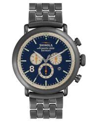Shinola - Metallic 'the Runwell Contrast Chrono' Bracelet Watch for Men - Lyst