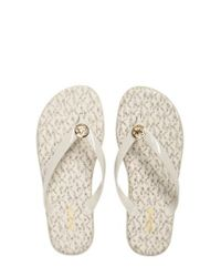 MICHAEL Michael Kors | Natural 'jet Set' Jelly Flip Flop | Lyst