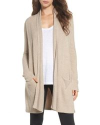 Barefoot Dreams - Natural Barefoot Dreams Essential Cardigan - Lyst