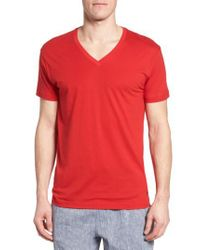 Polo Ralph Lauren | Red Lounge V-neck T-shirt for Men | Lyst