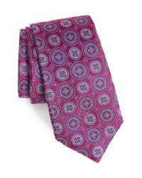 Nordstrom - Pink Santa Lucia Circles Silk Tie for Men - Lyst
