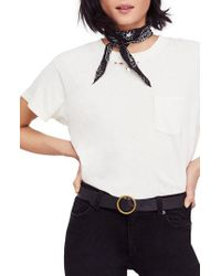 Free People - White We The Free By Vintage Pocket Tee - Lyst