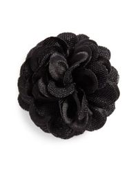 Hook + Albert - Black Lapel Flower - Lyst