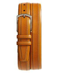 Mezlan - Brown Palma Leather Belt for Men - Lyst