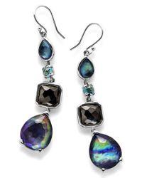 Ippolita - Black 'rock Candy' Linear Drop Earrings - Lyst