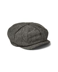Topman - Gray Baker Boy Cap for Men - Lyst