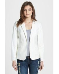 Vince Camuto | White Single-Button Sretch-Cotton Blazer | Lyst