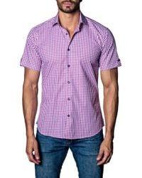 Jared Lang - Purple Check Sport Shirt for Men - Lyst