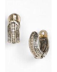 Konstantino | Metallic 'hermione' Diamond Small Hoop Earrings | Lyst