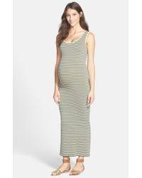 Tees by Tina | Green Micro Stripe Maternity Dress | Lyst