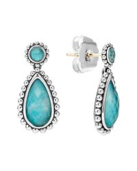 Lagos - Blue 'maya' Teardrop Earrings - Lyst