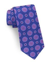 Ted Baker - Blue Medallion Silk Tie for Men - Lyst