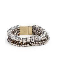 Serefina - Metallic Layered Statement Bracelet - Lyst