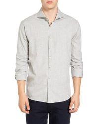 Singer + Sargent - Gray Regular Fit Glen Plaid Sport Shirt for Men - Lyst