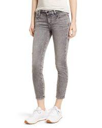PAIGE - Gray Transcend - Verdugo Crop Skinny Jeans - Lyst