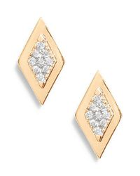 Dana Rebecca - Metallic Dana Rebecca Lisa Michelle Multi Diamond Stud Earrings - Lyst