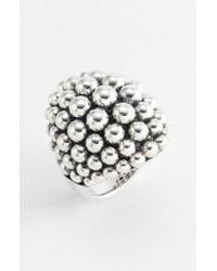 Lagos - Metallic 'bold' Caviar Ring - Lyst
