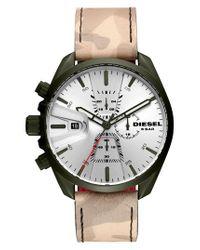 DIESEL - Metallic Diesel Ms9 Chronograph Strap Watch - Lyst