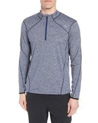 Sodo - Purple 'elevate' Moisture Wicking Stretch Quarter Zip Pullover for Men - Lyst